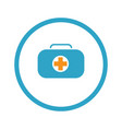first aid kit symbol and medical services icon vector image vector image