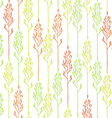 floral pattern with spikelets vector image vector image