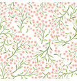 floral tile pattern leaves and flowers nature vector image vector image