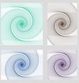 Fractal spiral page background design set vector image vector image
