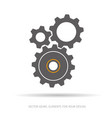 gear and cogwheel icon vector image