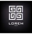 Geometrical silver logo design vector image vector image
