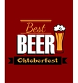 German best beer banner vector image vector image