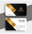 golden luxury premium business card design vector image vector image