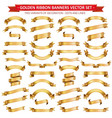 golden ribbon banners collection vector image vector image