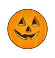 halloween face pumpkin vector image