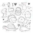 hand drawing dinosaur vector image vector image