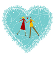 Happy Couple Valentines day greeting card vector image