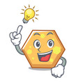 have an idea hexagon mascot cartoon style vector image