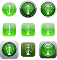 Hookah green app icons vector image