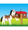 House on nature and animals vector image vector image