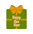isolated christmas gift happy new year vector image vector image