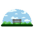 landscape of an outdoor park with a bench vector image vector image