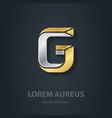 Letter G Template for company logo 3d Design vector image