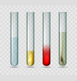 medical lab test tubes vector image vector image