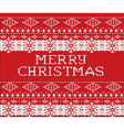Merry Christmas red sweater pattern celebration of vector image vector image