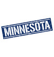 minnesota blue square stamp vector image vector image