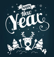 new year poster vector image vector image