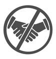 no handshake solid icon covid-19 prevention