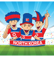 north korea football support vector image vector image