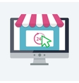 Online shopping concept vector image vector image
