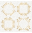 Ornate frames and scroll elements vector image vector image