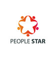 people star logo design template vector image vector image