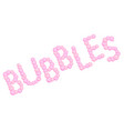 pink bubbles sign made from soap bubbles pink vector image vector image