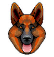 pixel sheepdog face portrait detailed isolated vector image