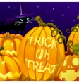Pumpkin with the words trick or treat vector image vector image