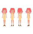 redhead pretty women in stylish outfits all sides vector image vector image