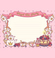 royal tea party template vector image vector image