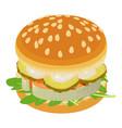 sandwich icon isometric style vector image vector image