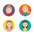 set avatars women of different diversity inside vector image vector image