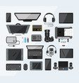set of high tech devices vector image