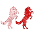 Set of red horses vector image vector image