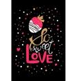 So sweet love vector image