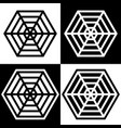 spider web logos simple black and white set vector image