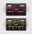 sport scoreboard with vector image vector image