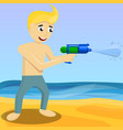 squirt gun concept background cartoon style vector image