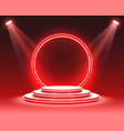 stage podium scene with for award ceremony vector image vector image