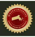 Star label Massachusetts vector image vector image