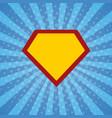 super hero rays halftone background vector image vector image