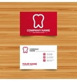 Tooth sign icon Dental care symbol vector image vector image