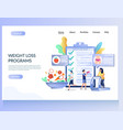 weight loss programs website landing page vector image vector image