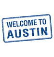 welcome to Austin blue grunge square stamp vector image vector image