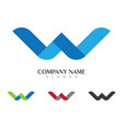 w letter logo template design vector image