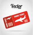 ticket fly vector image