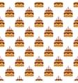 Birthday cake pattern seamless vector image