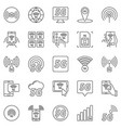 5g outline icons set 5 g network vector image